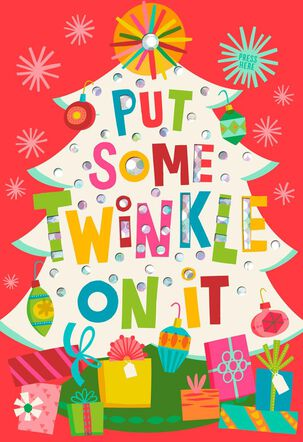 Put Some Twinkle On It Musical Christmas Card