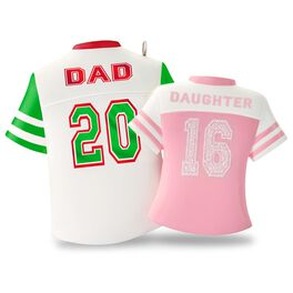 Dad & Daughter Colorful Jerseys Ornament, , large