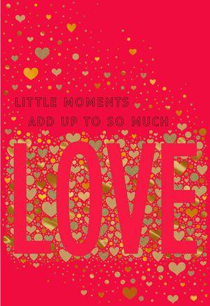 Confetti Hearts LOVE Valentine's Day Card