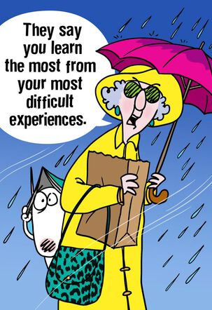 Maxine™ Rainstorm Funny Encouragement Card