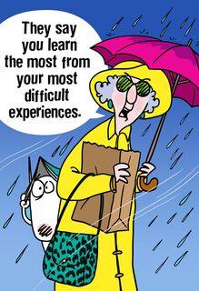 Maxine™ Rainstorm Funny Encouragement Card,