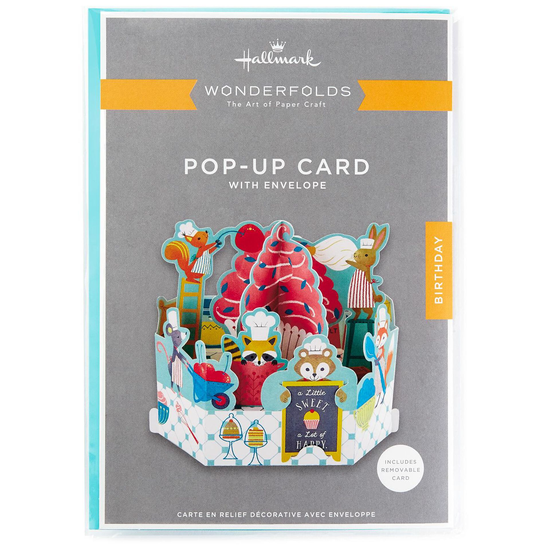 Birthday Cards Hallmark Wonderfolds Pop-Up Card With Envelope