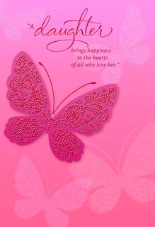 Butterfly for Daughter Valentine's Day Card,