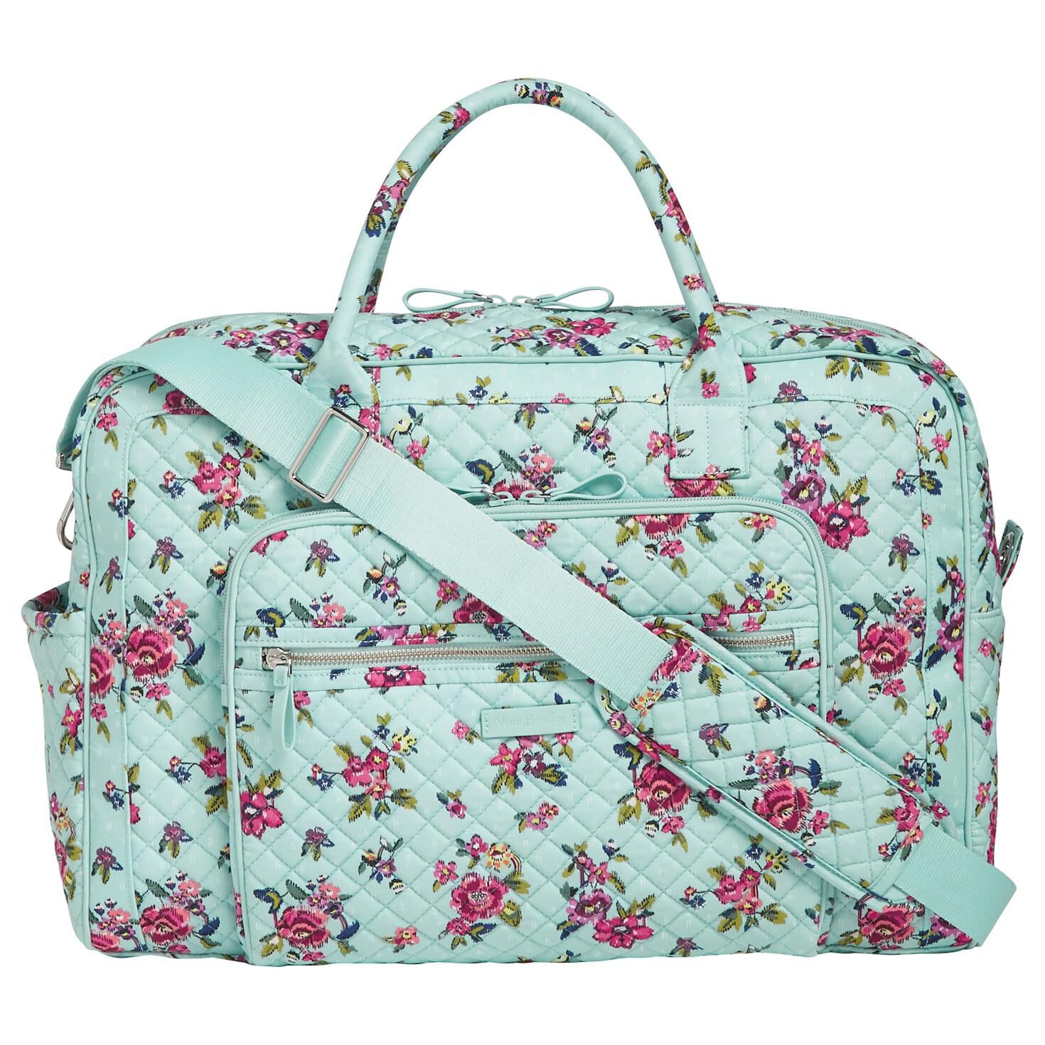 Vera Bradley Iconic Weekender Travel Bag in Water Bouquet - Travel -  Hallmark 0ae47f2b3e533