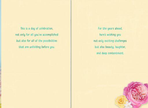 Floral Blooms Retirement Card,