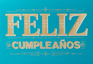 Feliz Cumpleaños Spanish Language Birthday Card