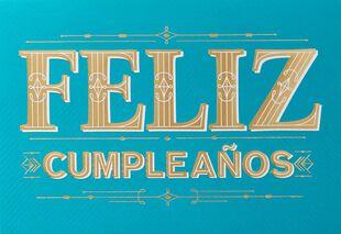 Feliz Cumpleanos Spanish Language Birthday Card