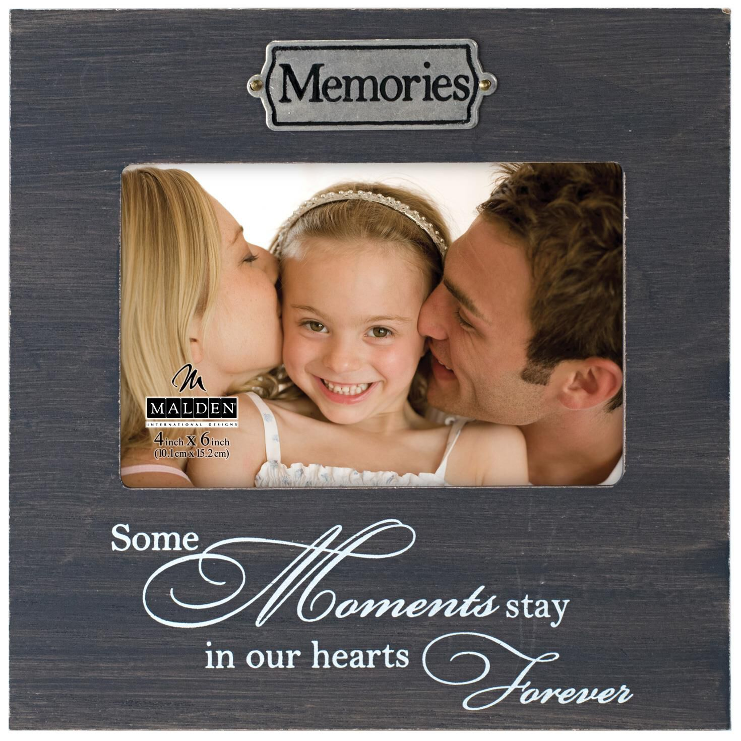 Malden Memories Weathered Wood Photo Frame, 4x6 - Picture Frames ...