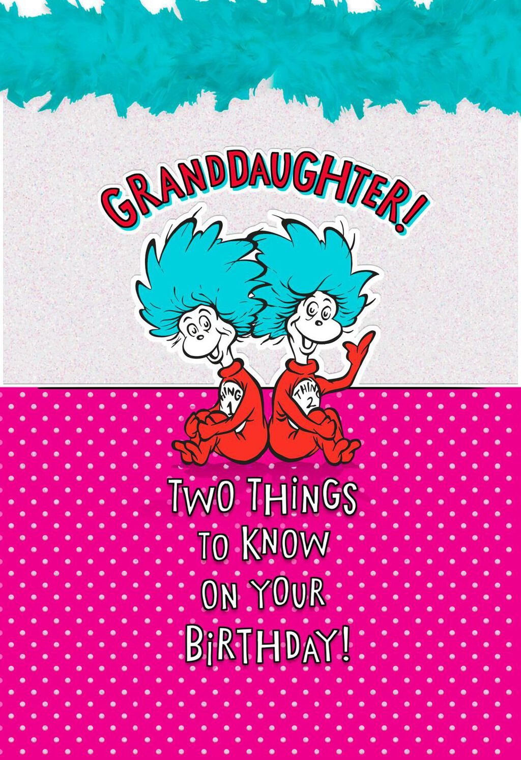 Dr SeussTM Thing 1 And 2 Birthday Card For Granddaughter