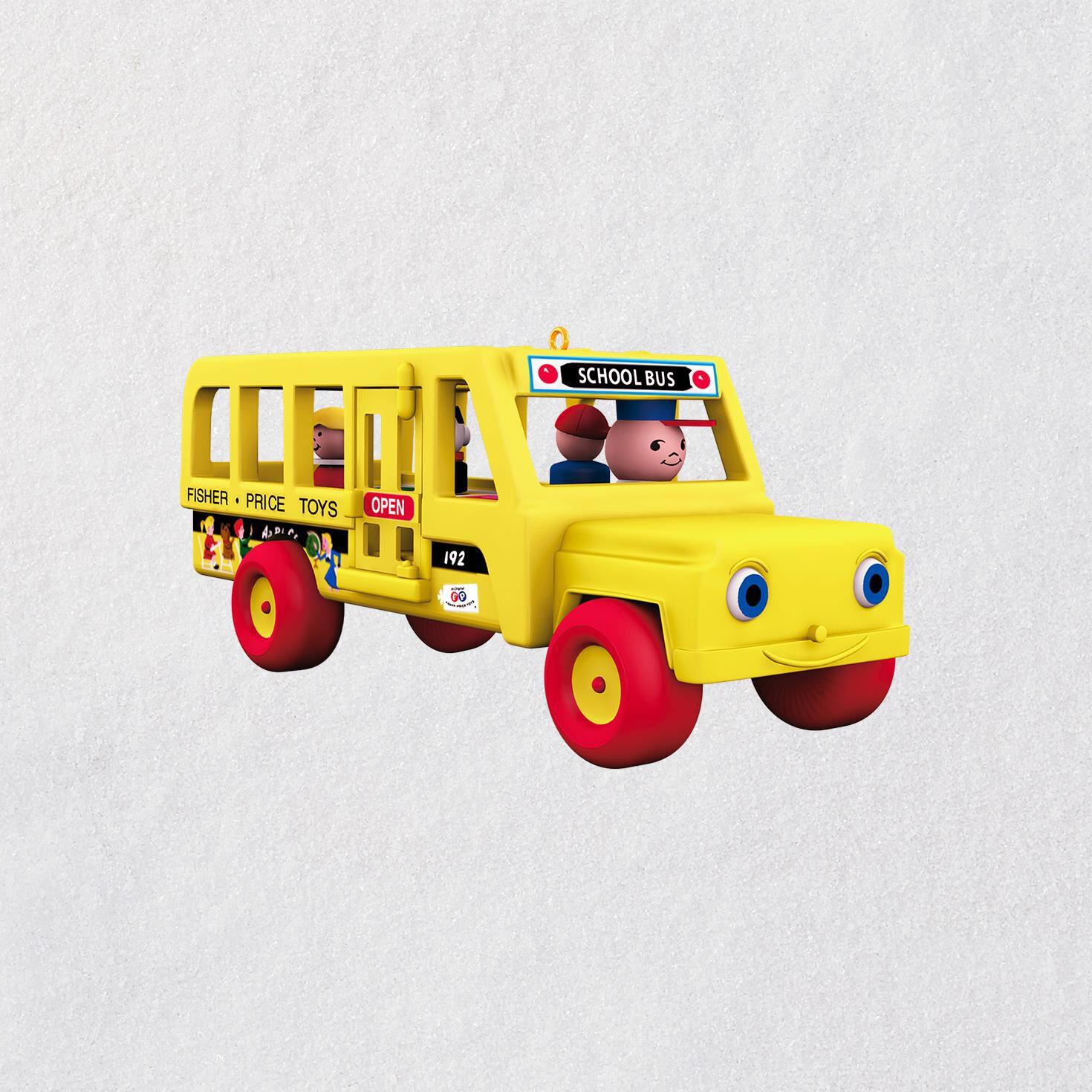 Mini Fisher-Price™ School Bus Ornament, 0.46\