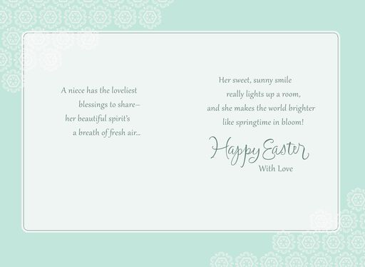 Daffodil Niece Easter Card,