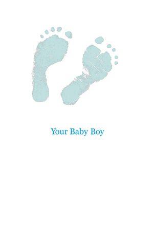 Blue Footprints New Baby Boy Card