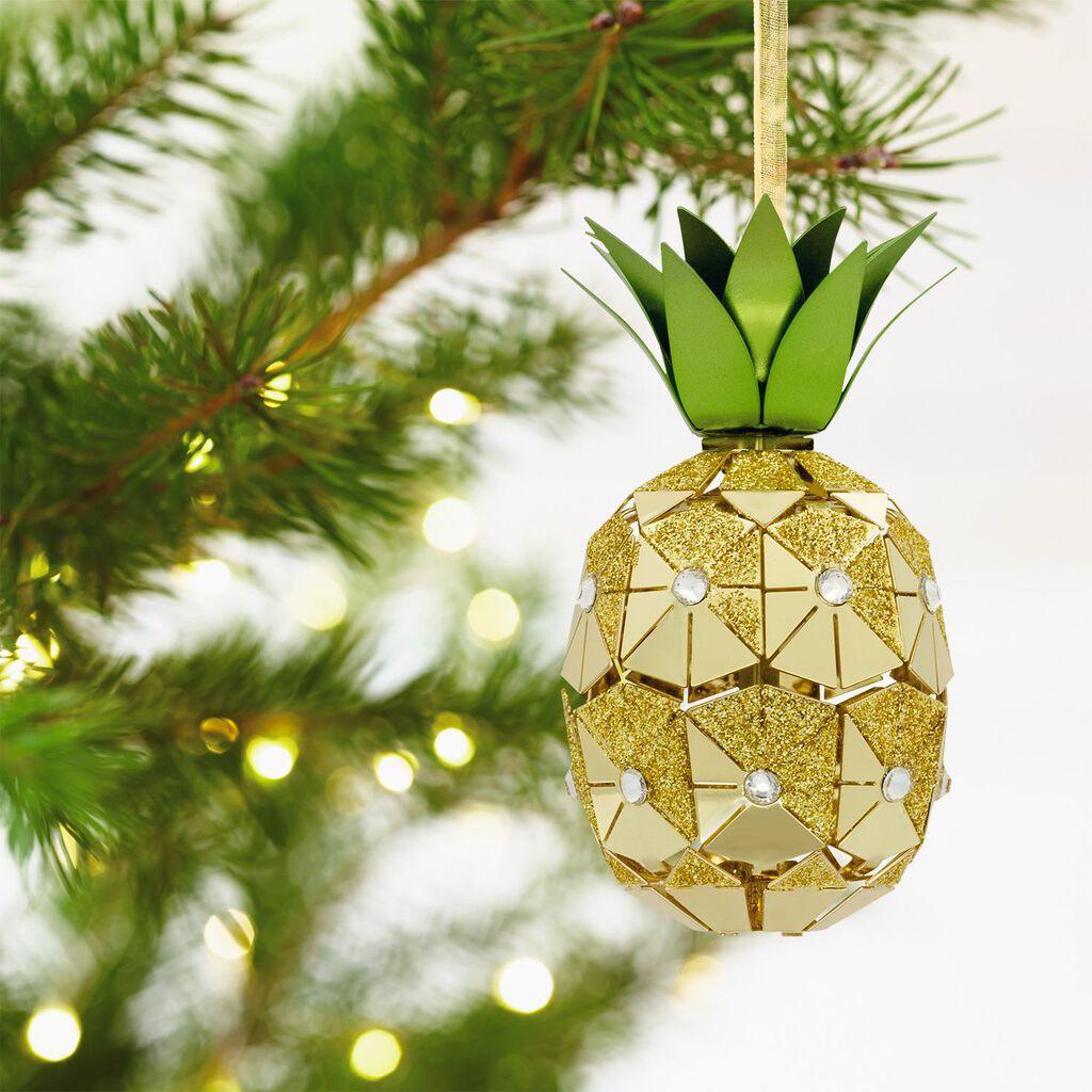 Signature Premium Pineapple Metal Hallmark Ornament - Specialty ...