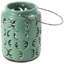 "Small Green Ceramic Lantern, 6.5"", , large"