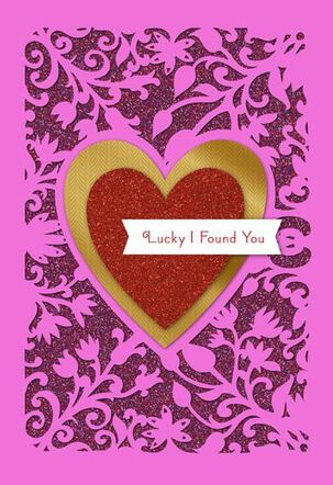 Lucky I Found You Valentine's Card
