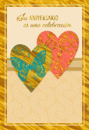 Celebration of True Love Spanish-Language Anniversary Card