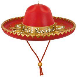 Feliz Navidad Sombrero Musical Ornament, , large