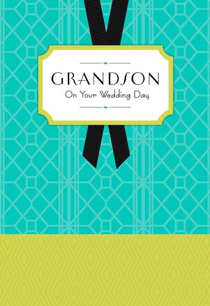 Art Deco Grandson Wedding Card