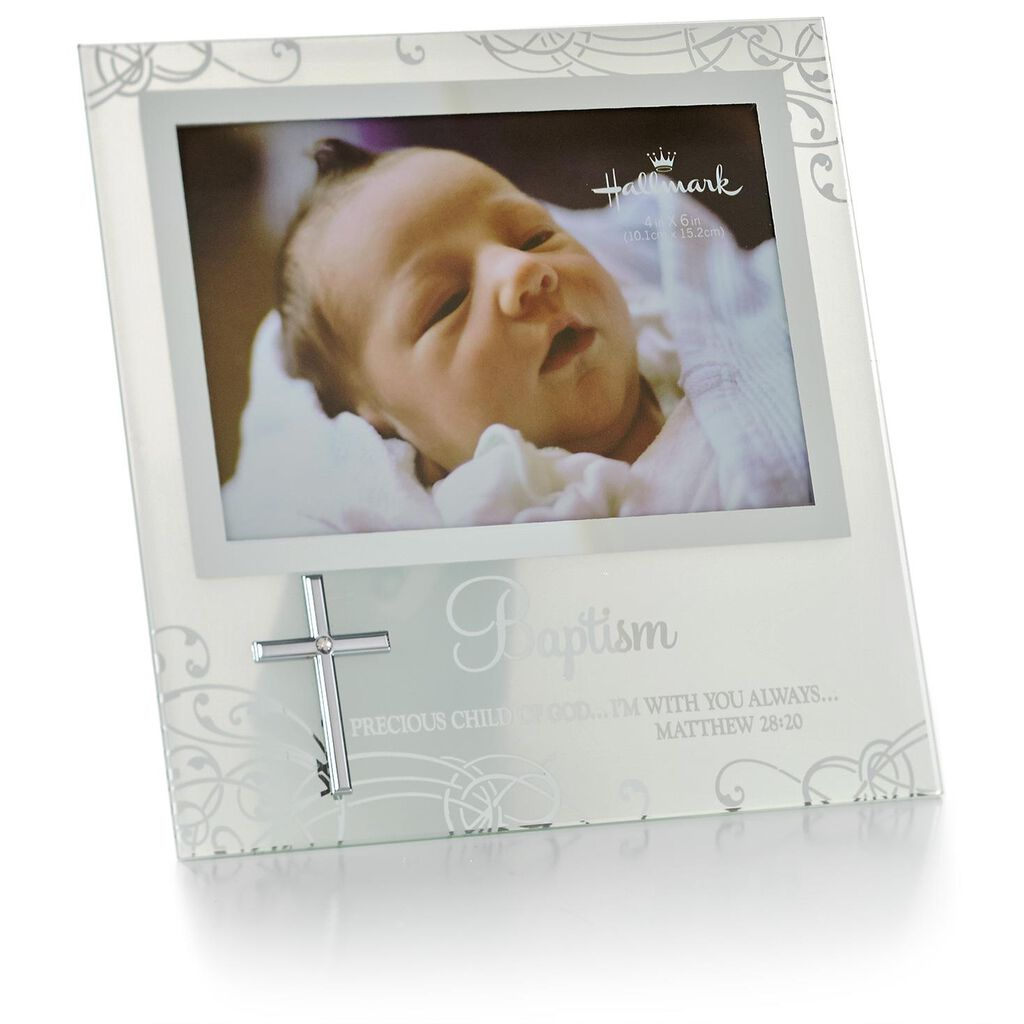 Baptism Glass Picture Frame With Cross, 4x6 - Picture Frames - Hallmark