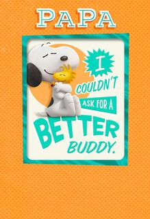 Peanuts® Best Pals Father's Day Card With Magnet,