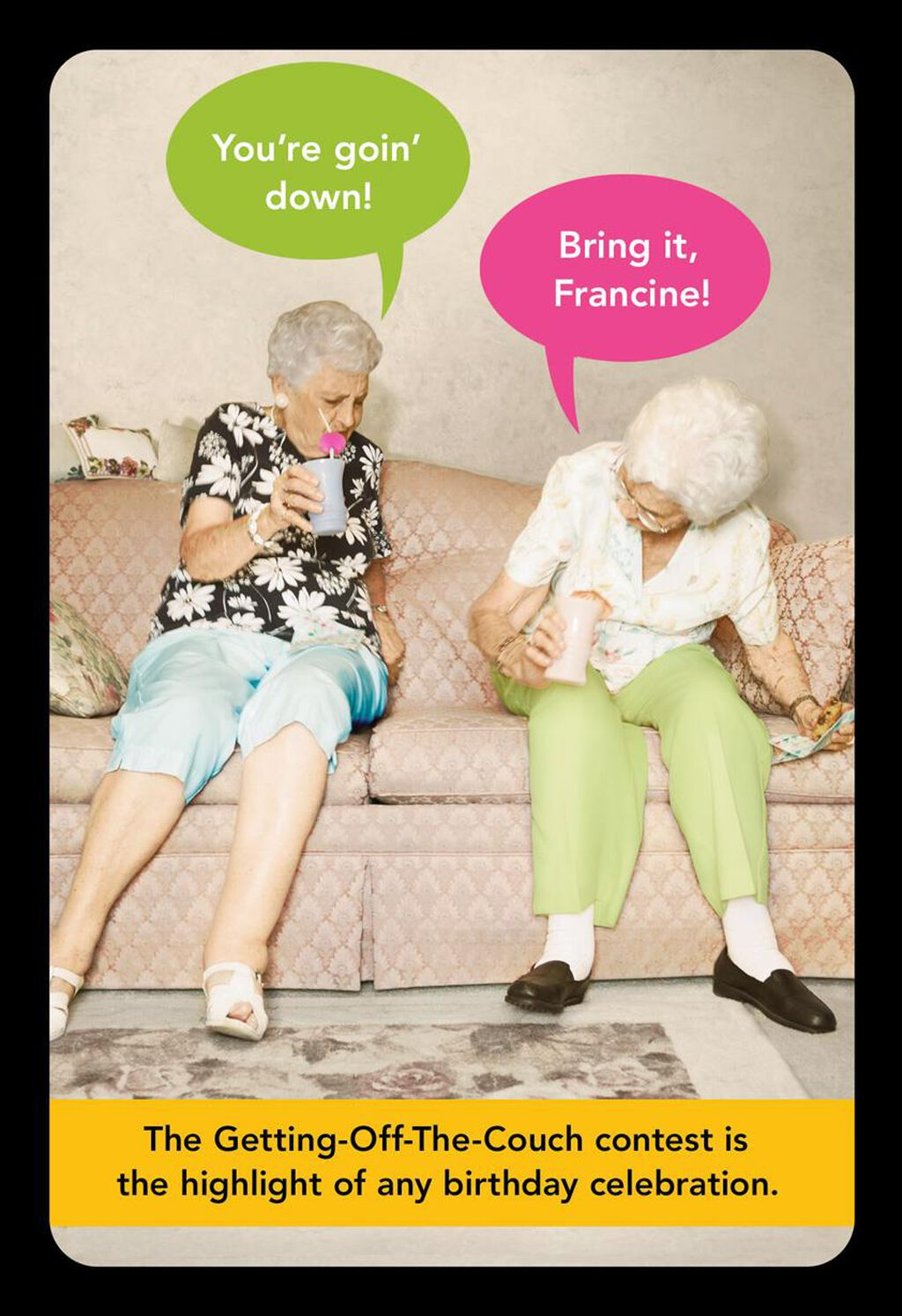 Old Age Antics Funny Birthday Card