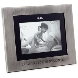 Papá Silver and Black Picture Frame, 4x6, , large