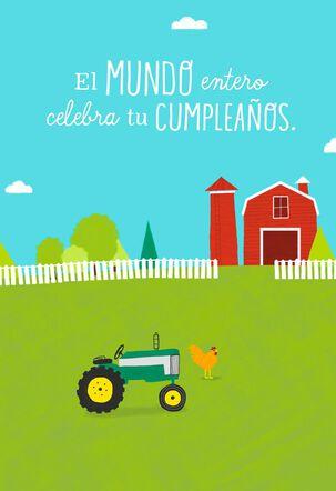 Barnyard Wishes Spanish-Language Musical Birthday Card
