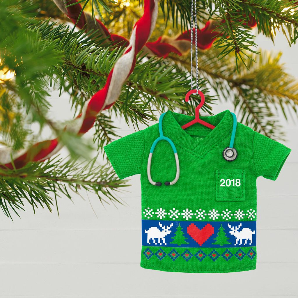 Happy Holiday Scrubs 2018 Ornament - Keepsake Ornaments - Hallmark