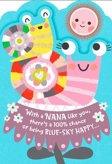 Smiling Snails for Nana Mother's Day Card,