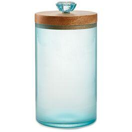 Sea Glass Jar With Wood Lid, , large