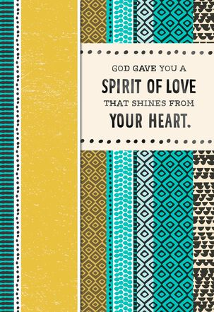 Your Spirit of Love Shines Religious Birthday Card