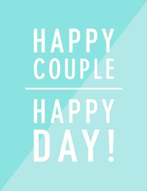Happy Couple, Happy Day Wedding Card