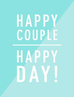 Happy Couple, Happy Day Wedding Card,