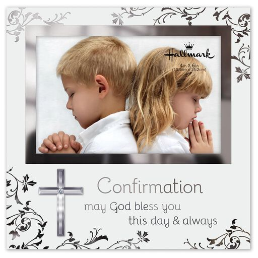 Confirmation Glass Picture Frame With Cross, 4x6,