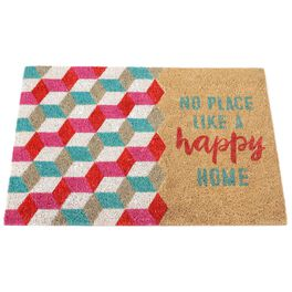 No Place Like a Happy Home Coir Door Mat, , large