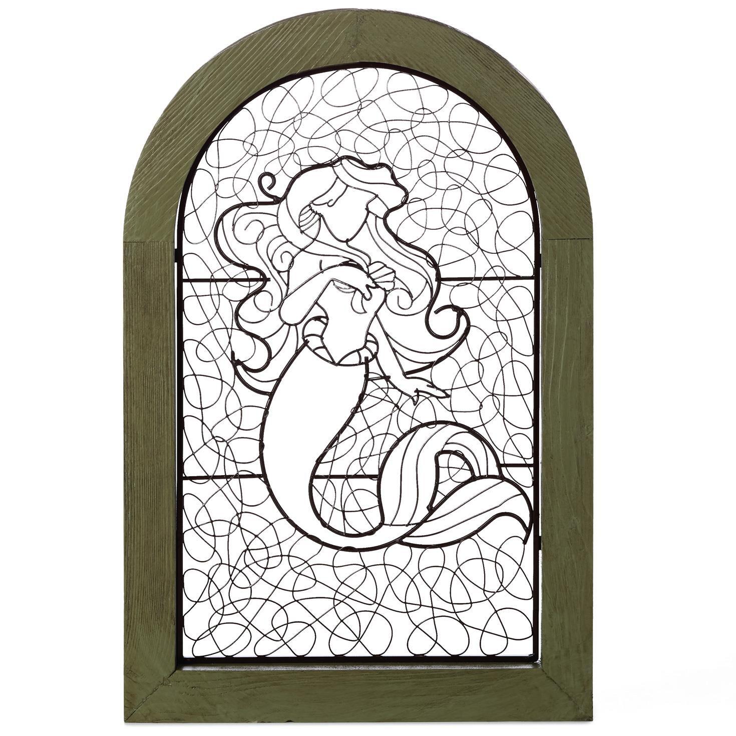 the little mermaid ariel wire art in distressed frame 12x18 framed art prints hallmark