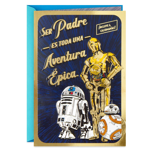 Star WarsTM Epic Adventure Spanish Language Fathers Day Card With Stickers