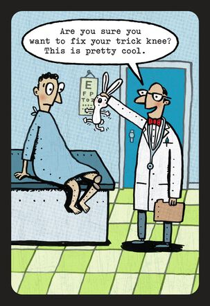 Old Age Trick Knee Funny Birthday Card