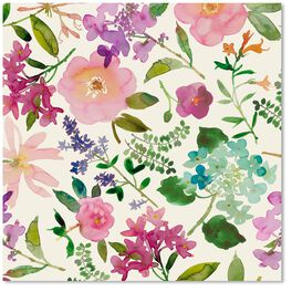 Floral Watercolor Wrapping Paper Roll, , large