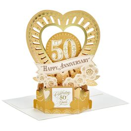 Celebrate the Years Pop Up 50th Anniversary Card, , large