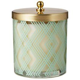 Art Deco Votive Candle With Lid, 8.1 oz., , large