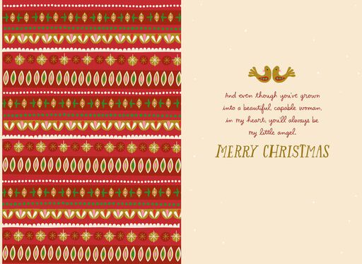 My Little Angel Daughter Christmas Card,