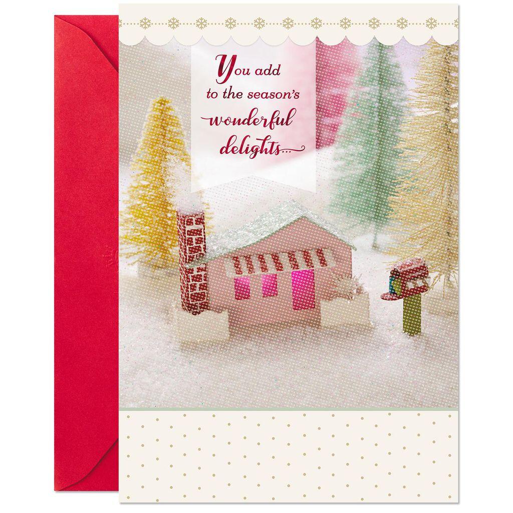Miniature House Vignette Christmas Card for Service Provider ...