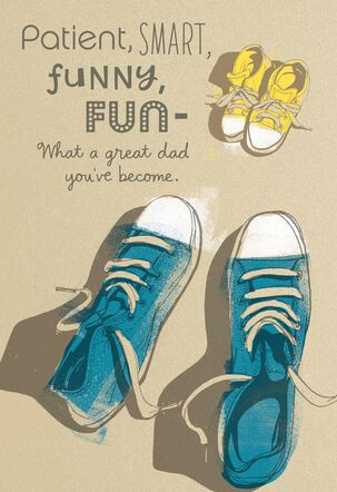 Big and Little Sneakers 1st Father's Day Card
