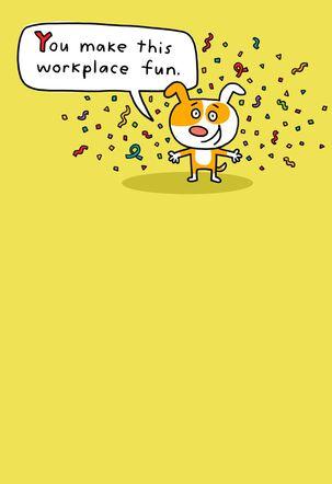 Confetti Dog Funny Boss's Day Card