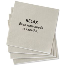 Relax and Breathe Beverage Napkins, Pack of 20, , large