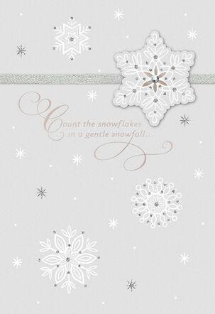 Snowflake Christmas Love Card