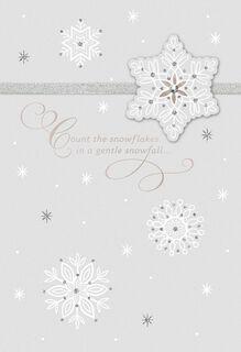 Snowflake Christmas Love Card,