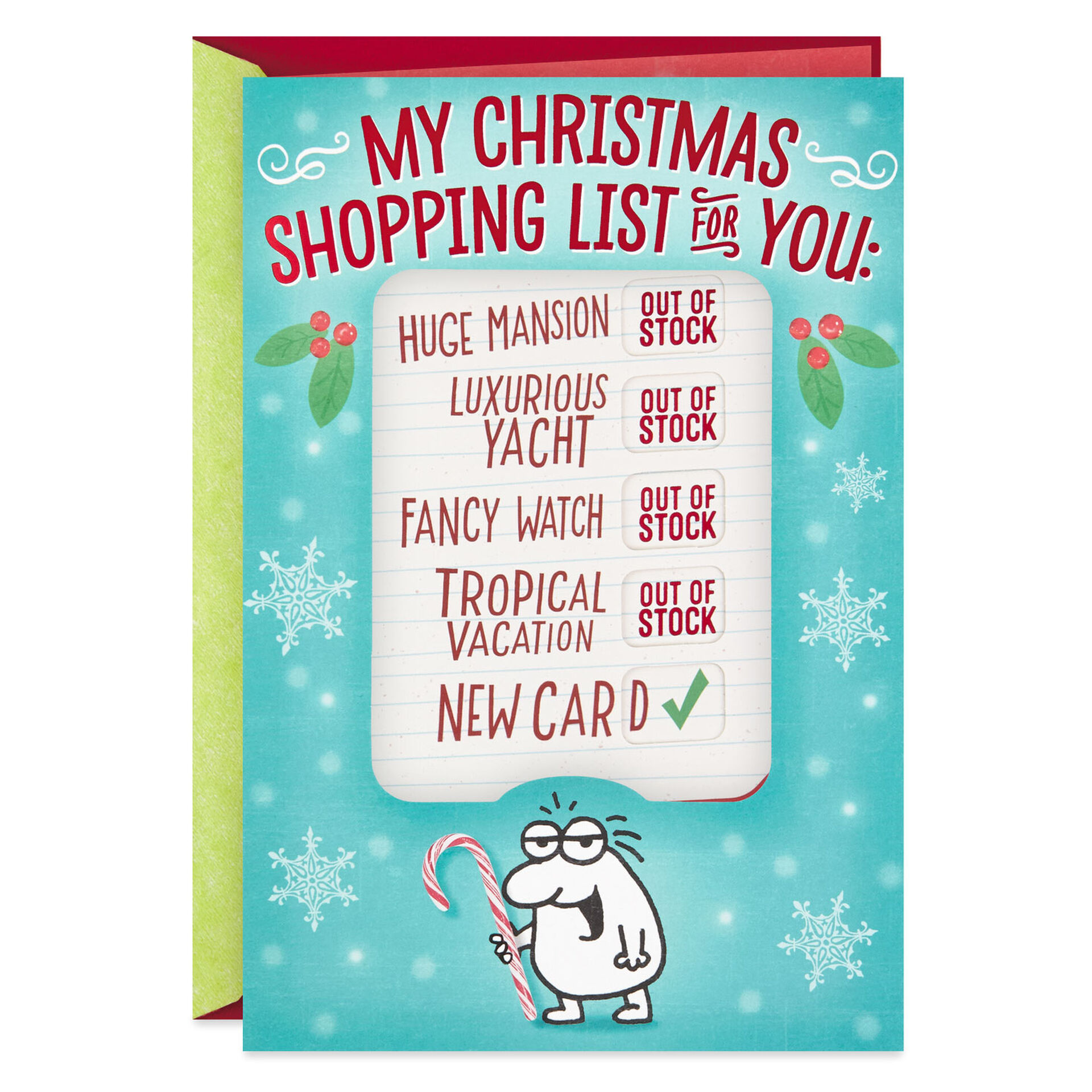 My Shopping List For You Funny Christmas Card Greeting Cards Hallmark
