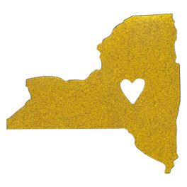 New York State Silhouette Car Magnet, , large